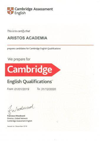 Aristos Centro Oficial 2019 Exámenes Inglés Cambridge