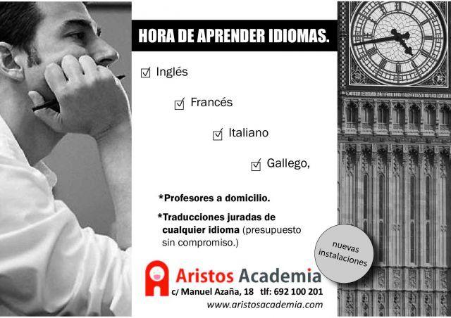 ¡Mejora tus idiomas con Aristos Academia!